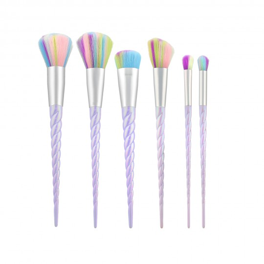 MIMO by Tools For Beauty, 6 Pcs Makeup Brush Set, Unicorn