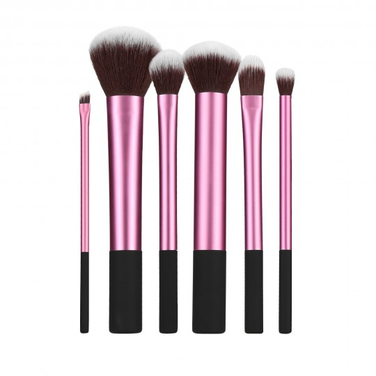 MIMO by Tools For Beauty, 6 Pcs Makeup Brush Set, Pink