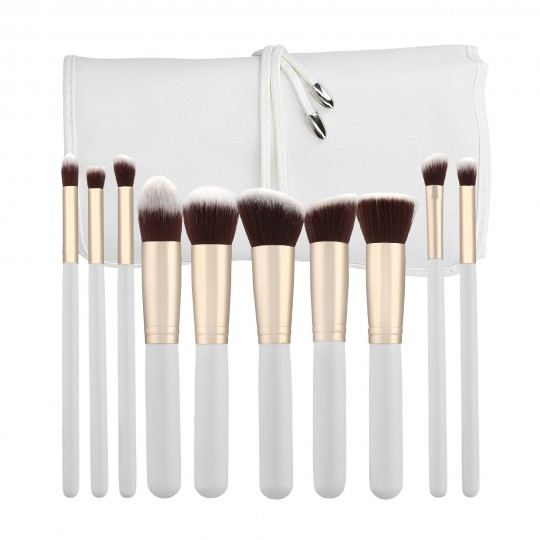 MIMO by Tools For Beauty, 10 Pcs Makeup Brush Set, White