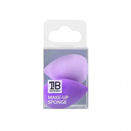 MIMO by Tools For Beauty, Raindrop Mini Makeup Sponges, Set of 2, Purple