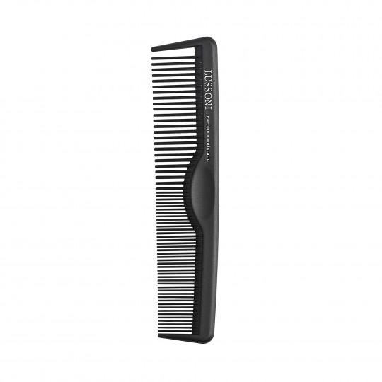 LUSSONI CC 100 Kieszonkowy, karbonowy grzebień do strzyżenia barberskiego