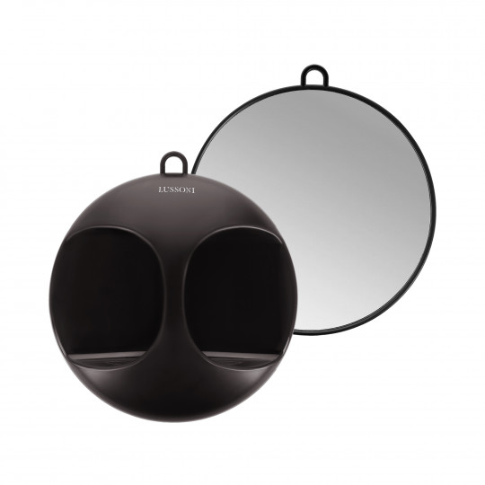 LUSSONI by Tools For Beauty, Black Round Mirror, Ø 29 cm