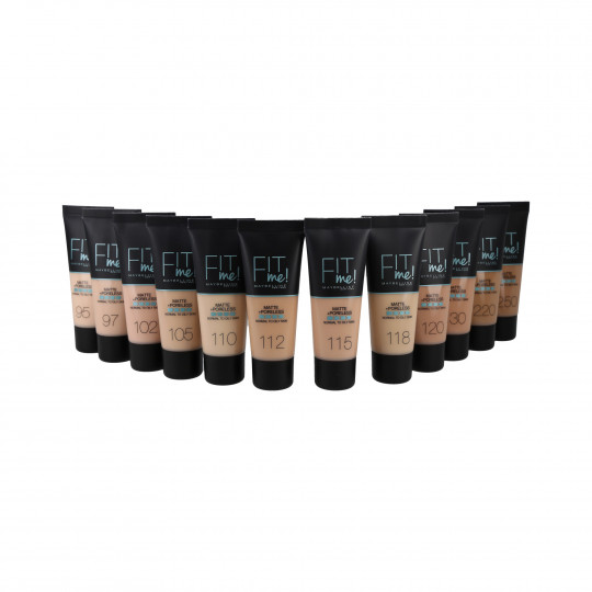 MAYBELLINE FIT ME Matte & Poreless Foundation 30ml - 8