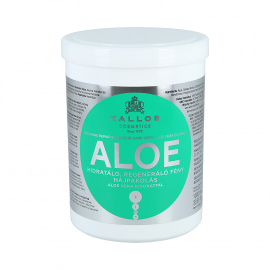 KALLOS KJMN Aloe Moisturizing Hair Mask with Aloe Vera 1000ml