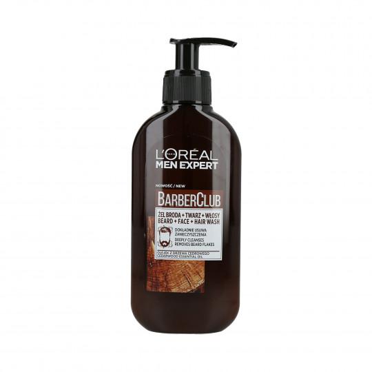 L'OREAL PARIS MEN EXPERT BARBER CLUB Hair and facial hair wash 200ml