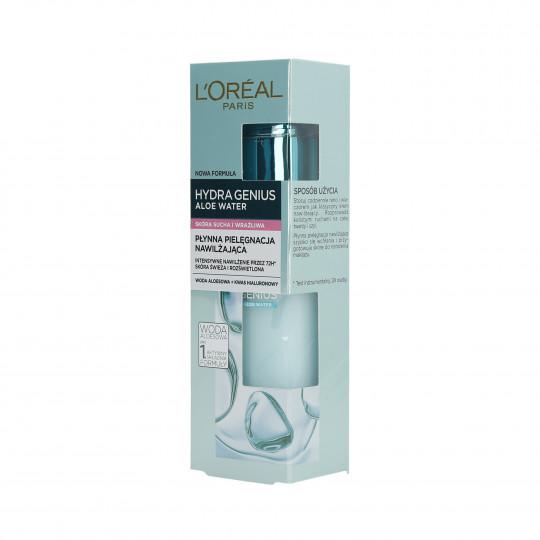 L'OREAL PARIS HYDRA GENIUS Aloe Water Cream for dry and sensitive skin 70ml - 1
