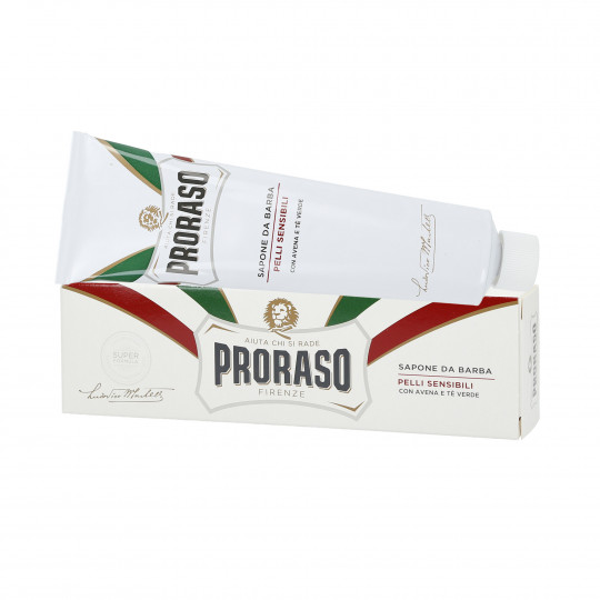PRORASO WHITE LINE SHAVING SOAP IN A TUBE 150ML
