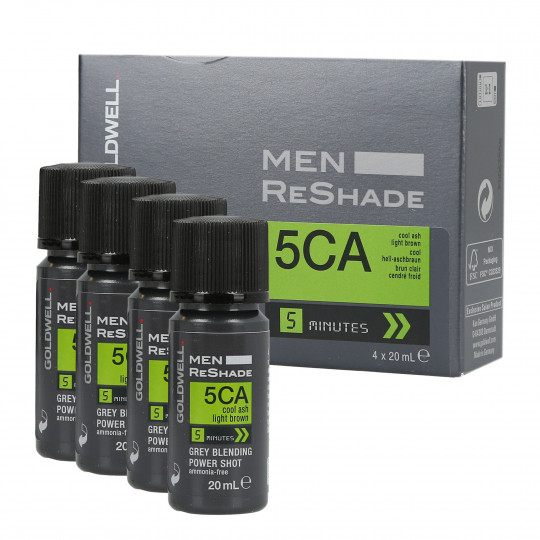 GOLDWELL MEN RE-SHADE 5CA 4x20ml