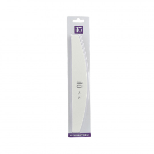 ilū by Tools For Beauty, 2in1 nail File & Buffer, Bridge, 180/100