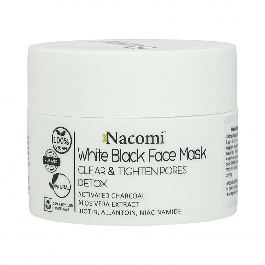 NACOMI White Black Face Mask with activated carbon 50ml - 1