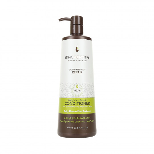MACADAMIA WEIGHTLESS MOISTURE Conditioner for fine hair 1000ml