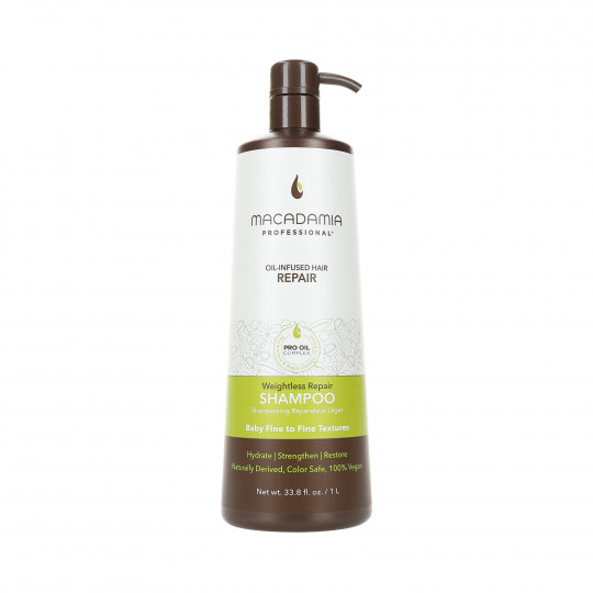 MACADAMIA WEIGHTLESS MOISTURE Shampoo for fine hair 1000ml