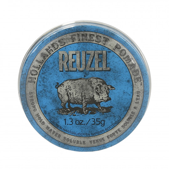 REUZEL Blue Strong Hold High Shine Water Soluble Pomade 35g - 1