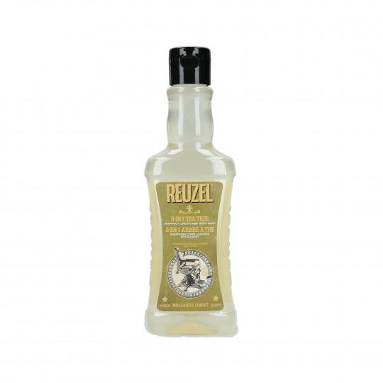 REUZEL 3-N-1 Tea Tree Shampoo 350ml - 1