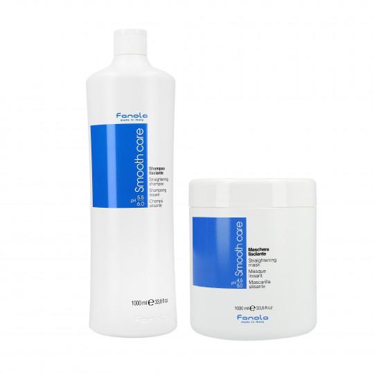 FANOLA SMOOTHCARE SHAMPOO1L+MASK1L SET
