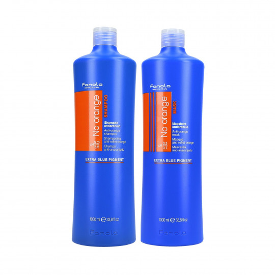 FANOLA NO ORANGE SHAMPOO1L+MASK1L SET