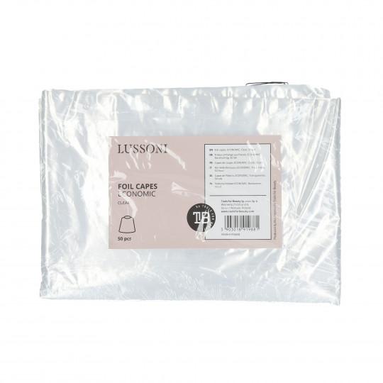LUSSONI Foil capes, ECONOMIC, Clear, 50 pcs