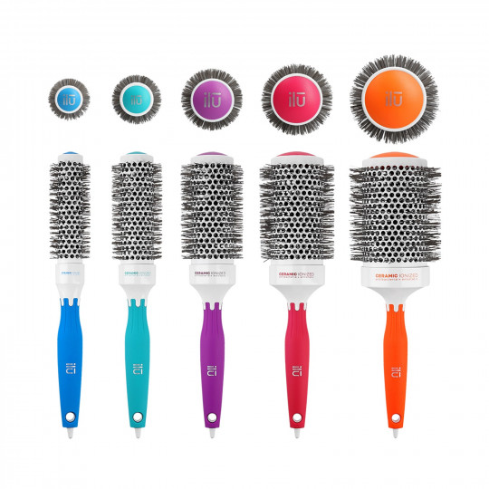 ilū by Tools For Beauty, 5 Pcs Set Professional Colourful Styling Hairbrushes
