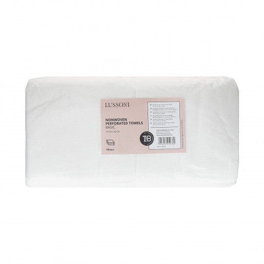 LUSSONI Nonwoven perforated towels, BASIC, 70 cm x 50 cm, 100 pcs