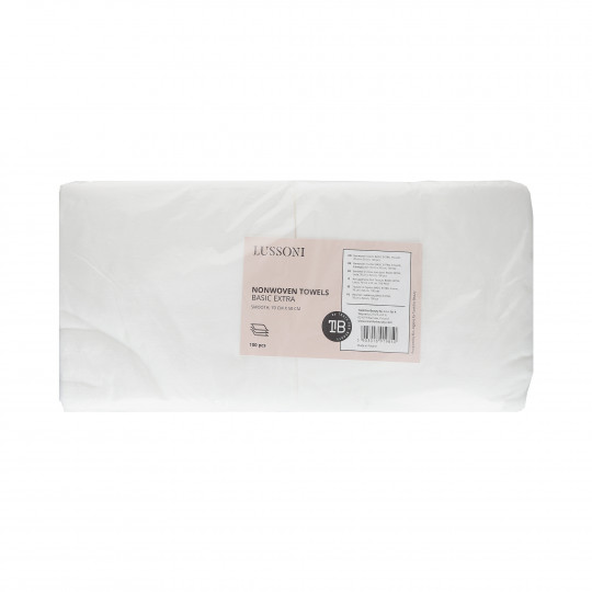 LUSSONI Nonwoven towels BASIC EXTRA, Smooth, 70 cm x 50 cm, 100 pcs