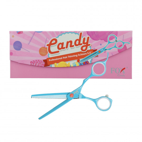 FOX CANDY Professional Thinning scissors 5.5'' turquoise