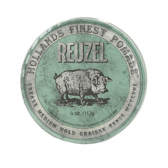 REUZEL Green Medium Hold Medium Shine Oil Based pomade 113g