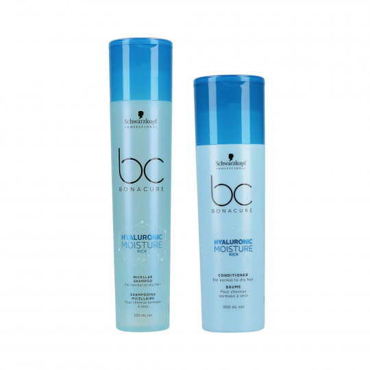 SCHWARZKOPF PROFESSIONAL BC HYALURONIC MOISTURE KICK Shampoo 250ml+Conditioner 200ml