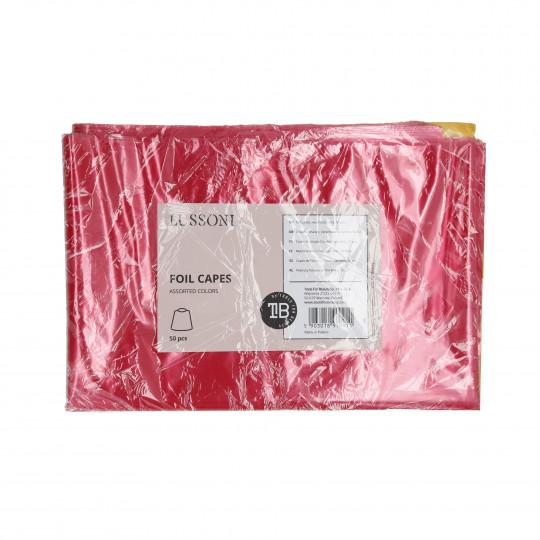 LUSSONI Foil capes, Assorted colors, 50 pcs