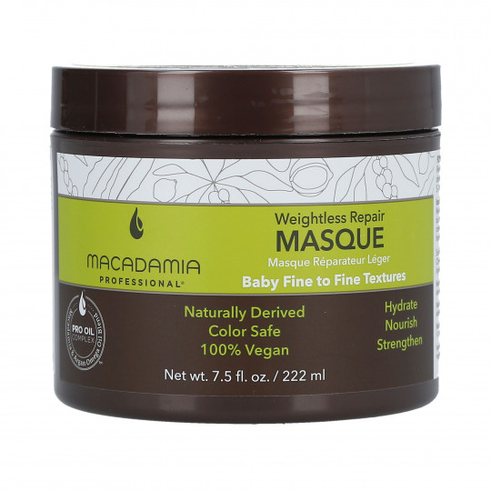 MACADAMIA WEIGHTLESS MOISTURE Mask for thin hair 222ml - 1