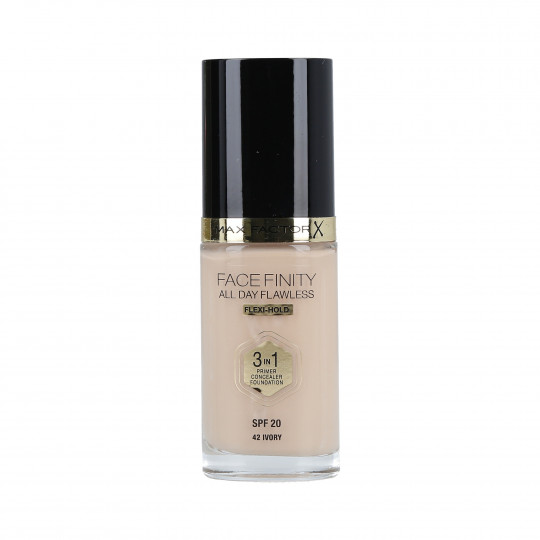 MAX FACTOR FACEFINITY 3in1 All Day Flawless Foundation SPF20 42 Ivory 30ml - 1