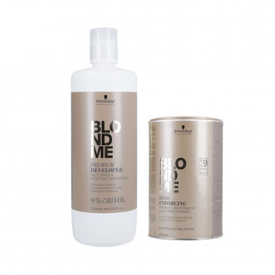 SCHWARZKOPF BLONDME Hair Set Lightener 450g + Developer 9% 1000ml - 1