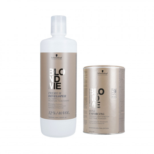 SCHWARZKOPF BLONDME Hair Set Lightener 450g + Developer 12% 1000ml - 1