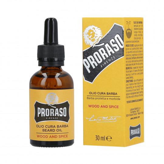 PRORASO SINGLE BLADE Wood And Spice Beard oil 30ml