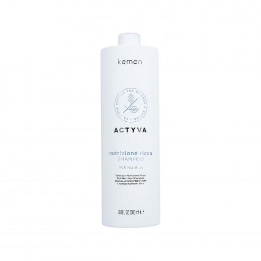 KEMON ACTYVA NUTRIZIONE Rich Shampoo 1000ml - 1