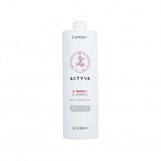 KEMON ACTYVA P FACTOR Shampoo against hair loss 1000ml - 1