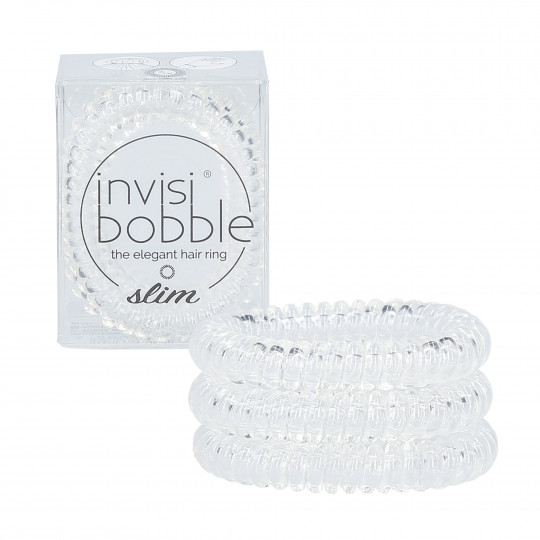 INVISIBOBBLE SLIM Hair ties Crystal Clear 3 pcs.