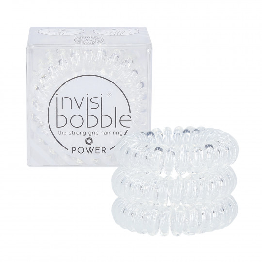 INVISIBOBBLE POWER Hair Ring Power Crystal Clear 3-pack