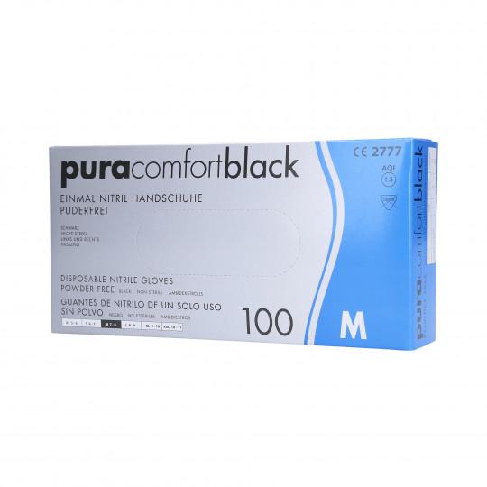 NITRILE GLOVES BLACK 100PCS M