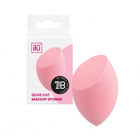 ilū Olive Cut Makeup Sponge, Pink