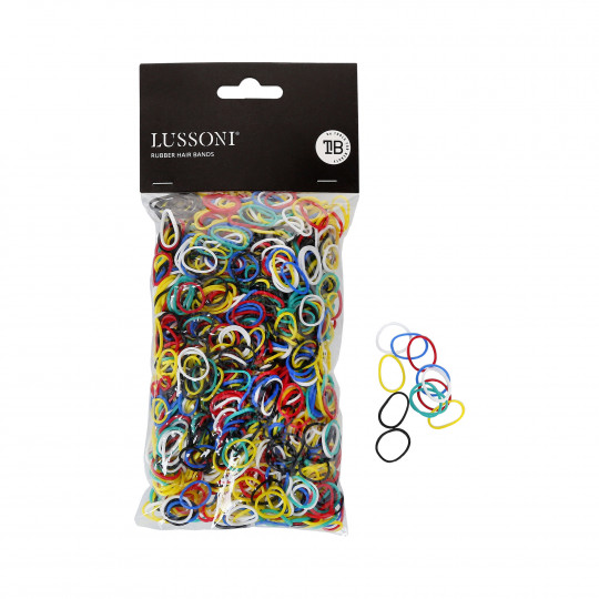 LUSSONI Rubber hair bands, Ø15mm, 100gr